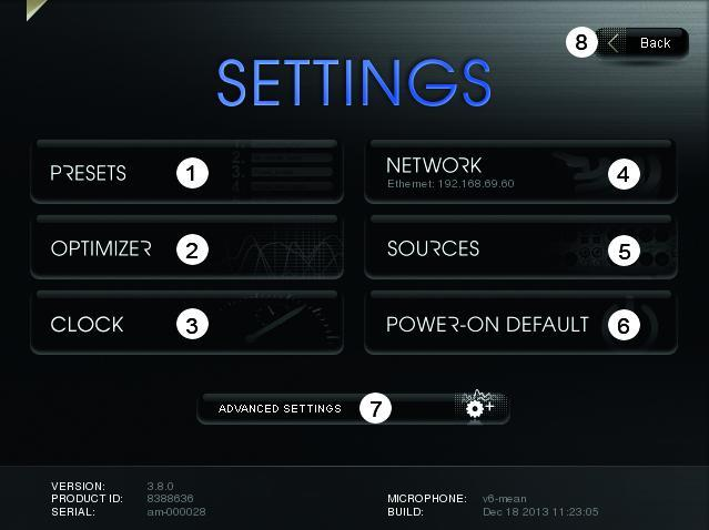 ST2-HiFi - Settings